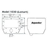 1030 | Aquador Skimmer Frame and Lid