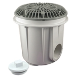 25514-001-000 | Gunite Pool Main Drain With Galaxy Av Lid Gray