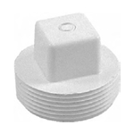 2In Male Threaded Plug White
