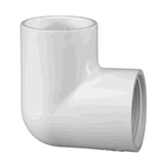 407-015 | PVC Female x Socket Elbow 90 Degree 1-1/2 Inch
