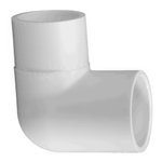 409-005 | PVC Street Elbow Socket x Spigot 90 Degree 1/2 Inch