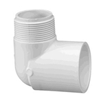 410-010 | PVC Male x Socket Elbow 1 Inch