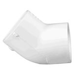 417-040 | PVC Socket Elbow 45 Degree 4 Inch