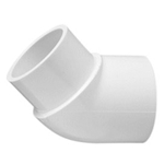423-015 | PVC Street Elbow Socket x Spigot 45 Degree 1-1/2 Inch