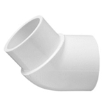 423-025 | PVC Street Elbow Socket x Spigot 45 Degree 2-1/2 Inch