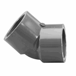 817-015 | PVC Socket Elbow 45 Degree SCH80 1-1/2 Inch