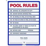 R230200 | California Pool Rules Sign