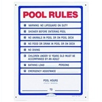 R230400 | Pool Rules Sign