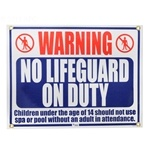 R230500 | No Lifeguard On Duty Sign