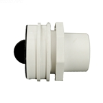 400-9190P | Flush Mount Return Fitting with Plaster Plug White