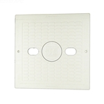 540-6490WW | Square Lid with Logo Insert White