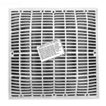 640-4720V | 12 x 12 Inch Grate and Frame White