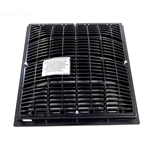640-4721V | 12 x 12 Inch Grate and Frame Black