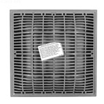 640-4727V | 12 x 12 Inch Grate and Frame Grey