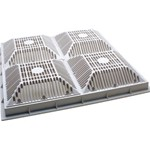 640-4770V | 18 x 18 Inch Grate and Frame White