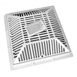 640-4790V | 9 x 9 Inch Grate and Frame White