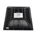 640-4791V | 9 x 9 Inch Grate and Frame Black