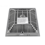 640-4797V | 9 x 9 Inch Grate and Frame Grey